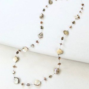 Shell on Wire Long Necklace
